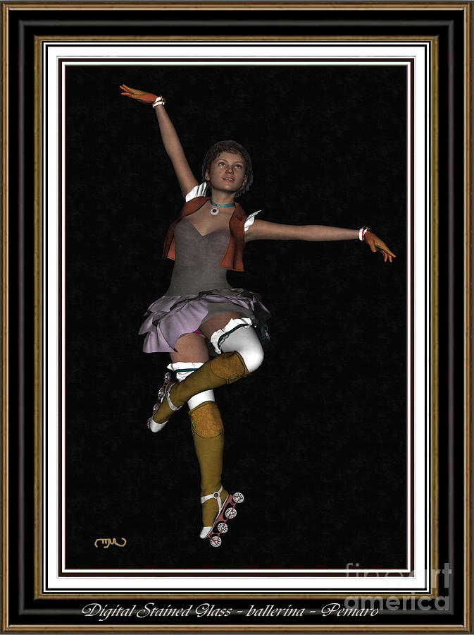 Post-impressionism Painting - Ballet On Skates 1bos2 by Pemaro