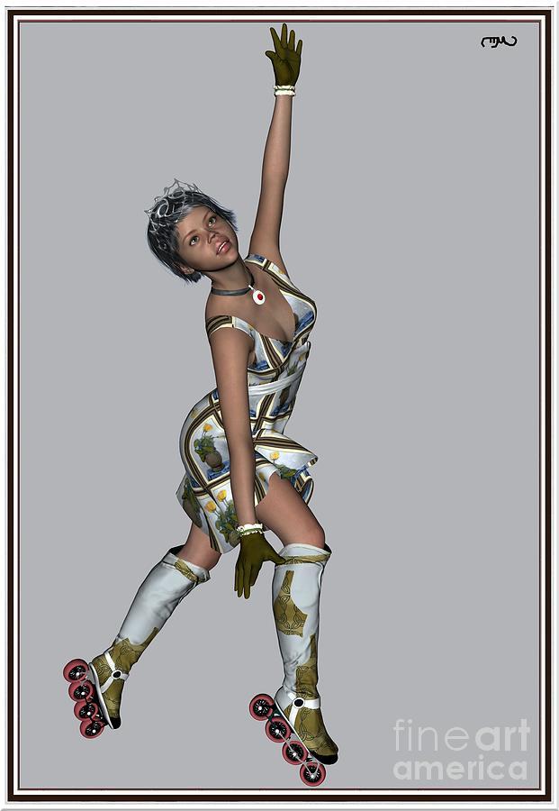 Modern Painting  Painting - Ballet On Skates 7bos1 by Pemaro