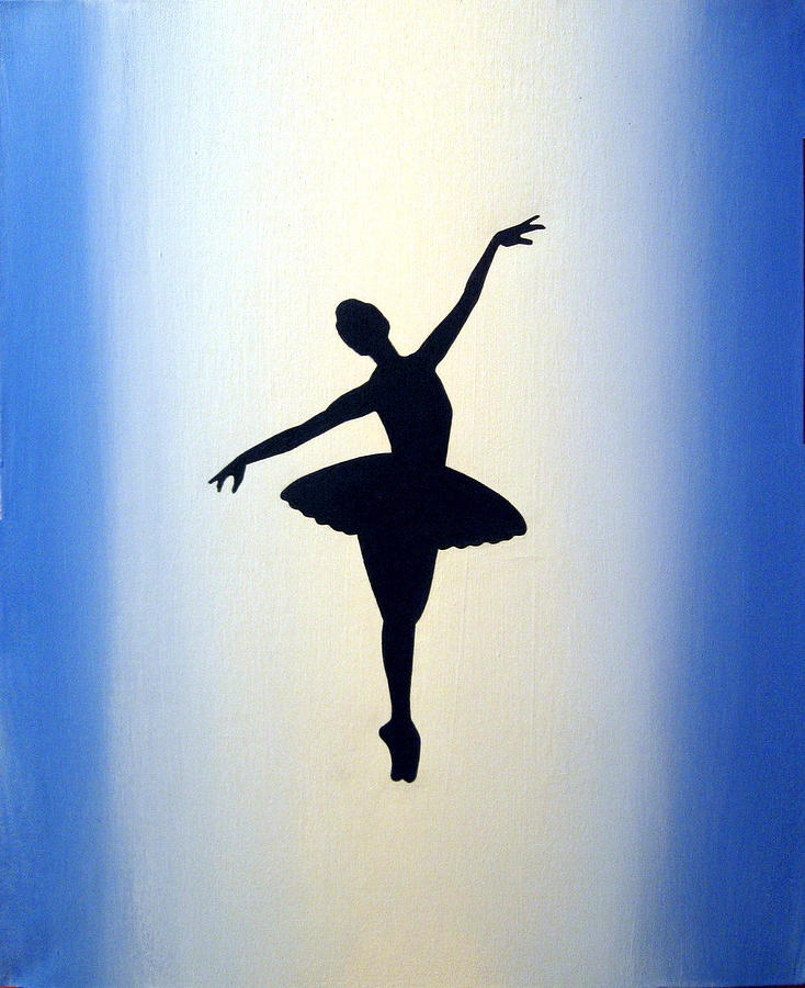 Ballet Painting Ballerina Large Modern Abstract Art Wall Canvas