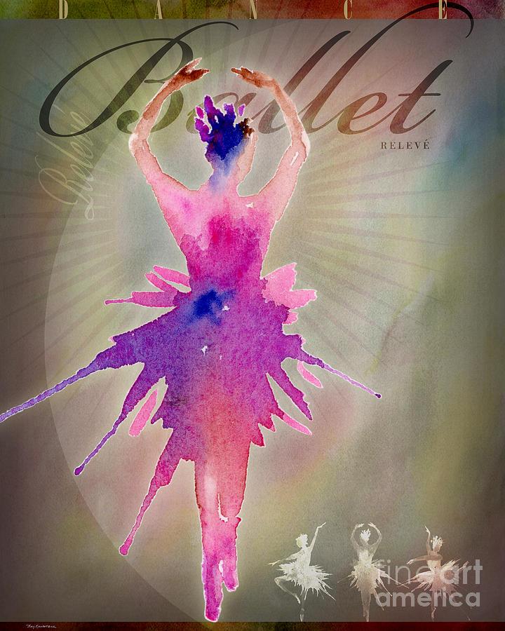 Ballet Releve Poster Digital Art