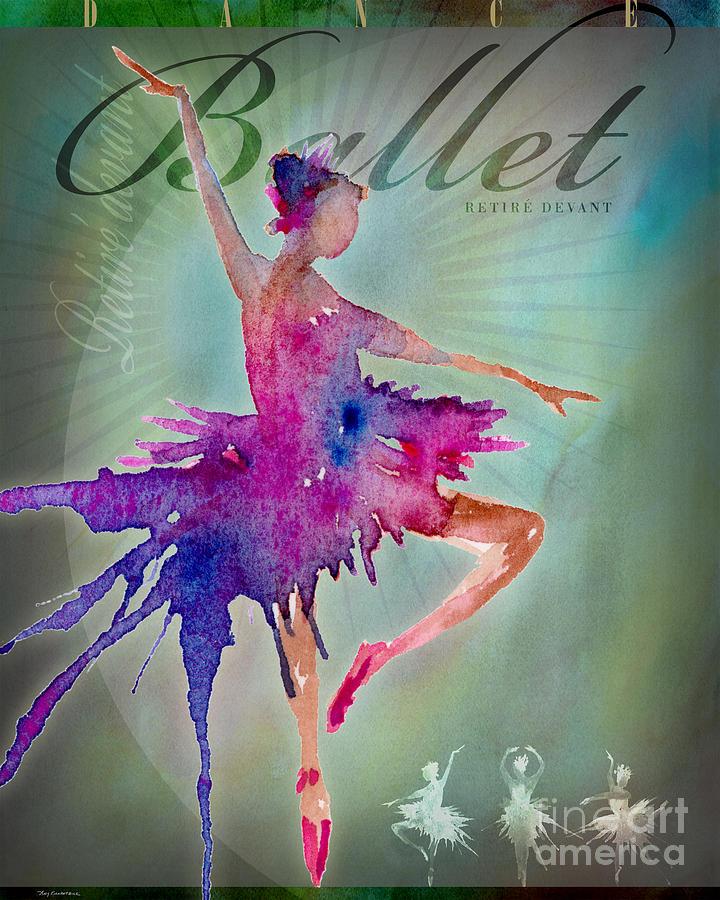 Ballet Retire Devant Poster Digital Art