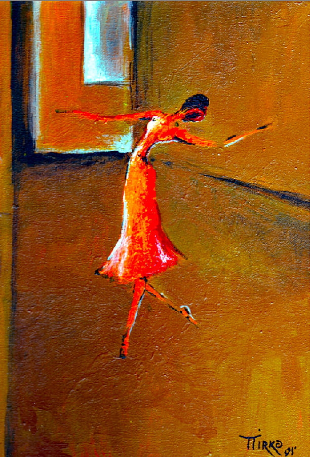 Ballerina Painting - Ballet Solitaire by Mirko Gallery