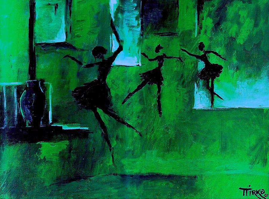 Ballerina Painting - Ballet Vert by Mirko Gallery
