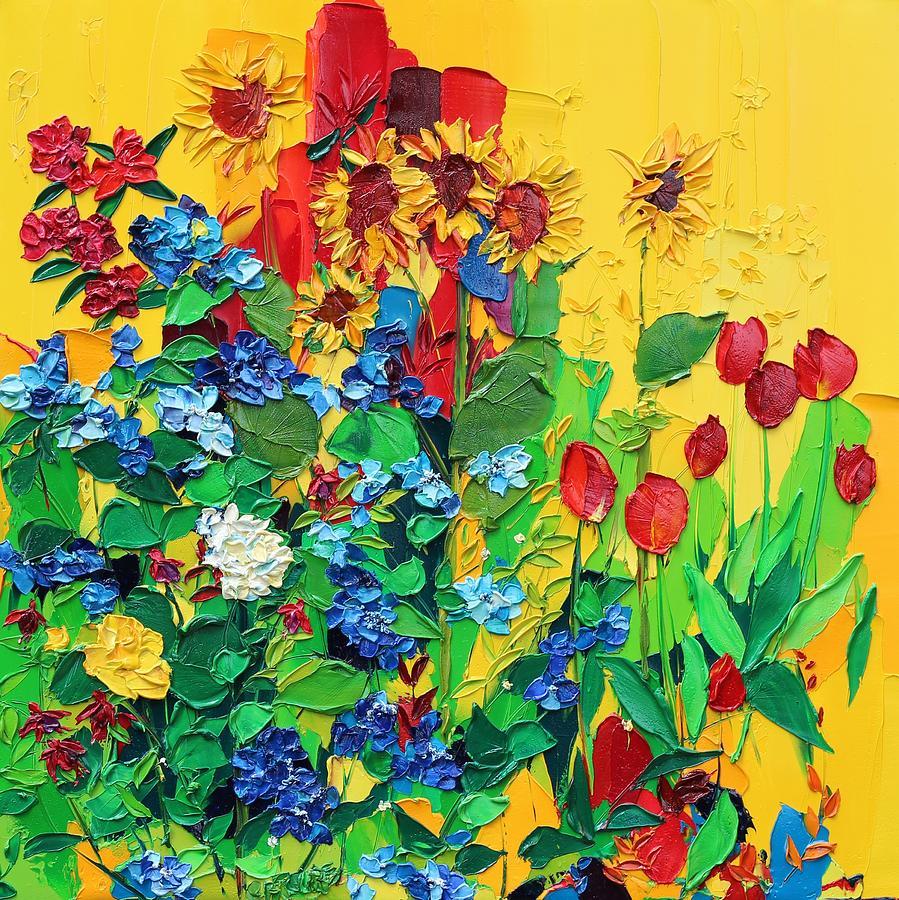 Ballinspittle Village Garden Painting by Valerie Catoire