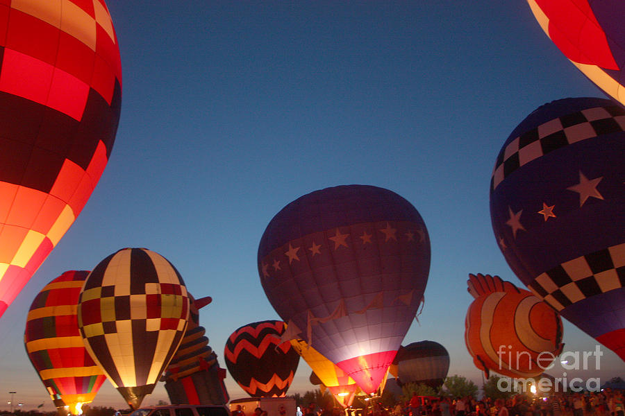 Hot Air Balloons Photograph - Balloon-glow-7808 by Gary Gingrich Galleries