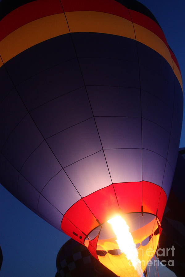 Hot Air Balloons Photograph - Balloon-glowpurple-7710 by Gary Gingrich Galleries