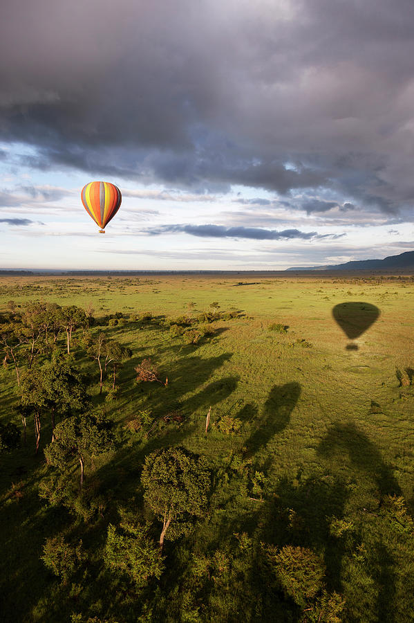 Balloon In Masai Mara National Park Photograph by Luis Davilla
