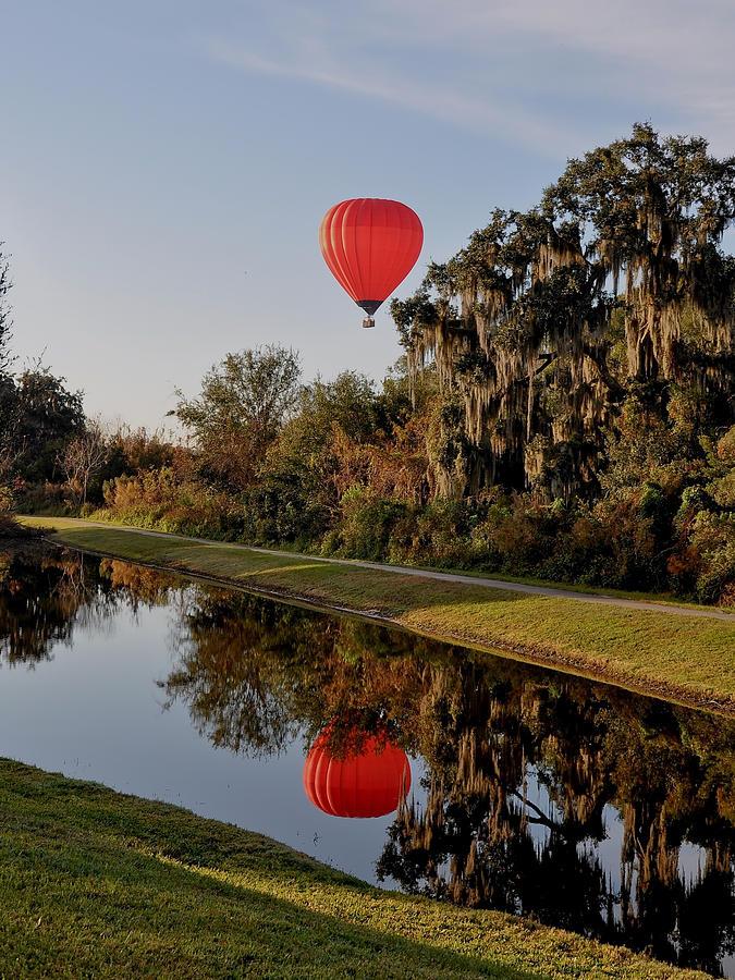 Hot Air Balloon Photograph - Balloon Reflection by John Black