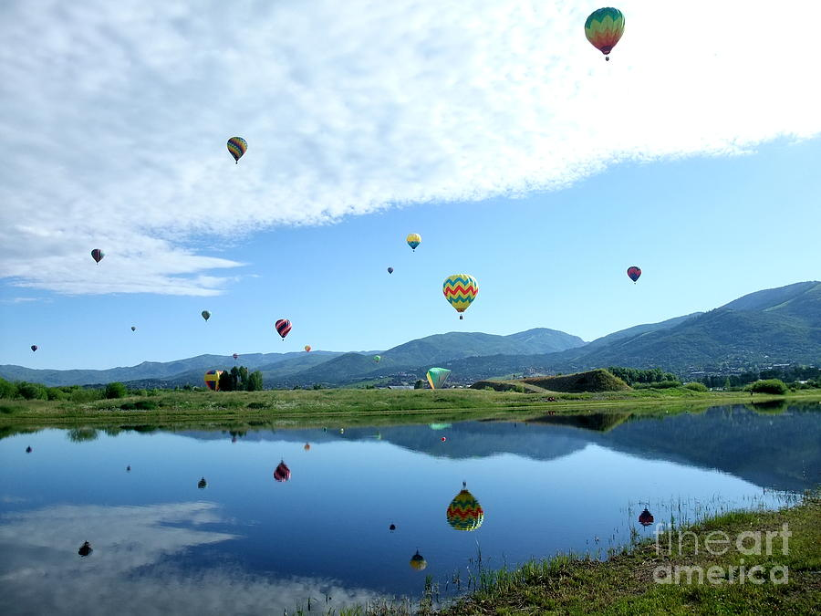 Balloon Photograph - Balloon Reflections by Stephen Schaps