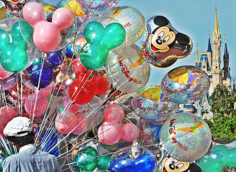 Disney Photograph - Balloons Down Main Street by Rachael M