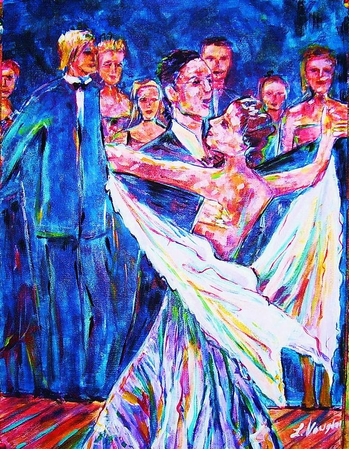 Dancing Painting - Ballroom Compitition by Linda Vaughon