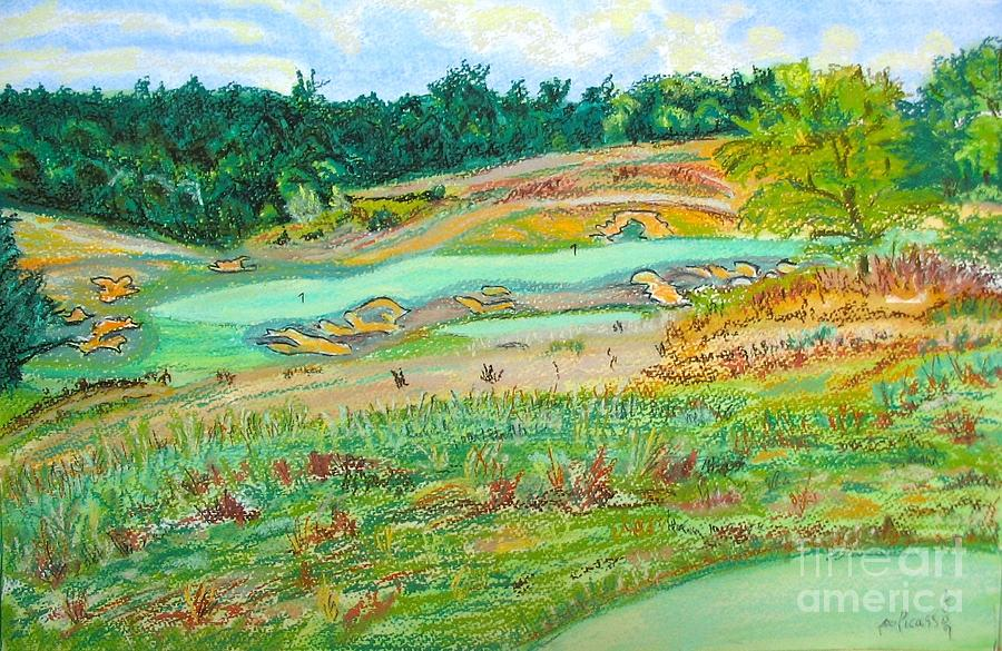 Golf Course Scene Painting - Ballyhack Double Green by Frank Giordano