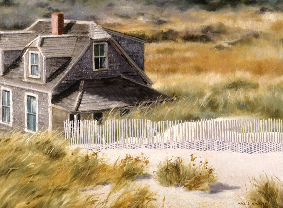 Cottage Painting - Balston Beach House by Karol Wyckoff