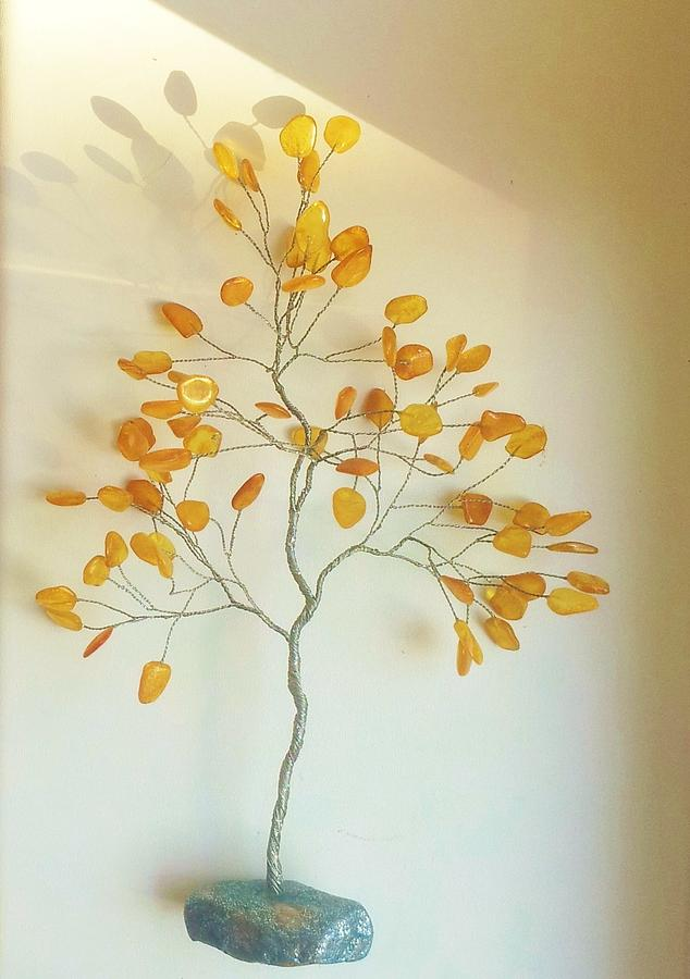 Sunny Sculpture - Baltic Amber Tree by J-Star Wind