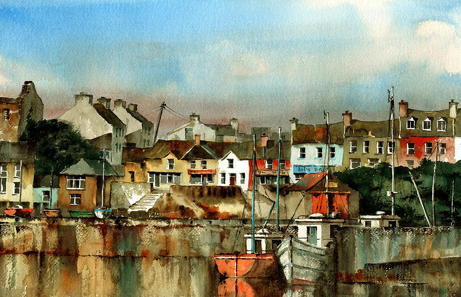 Baltimore Harbour West Cork Painting By Val Byrne