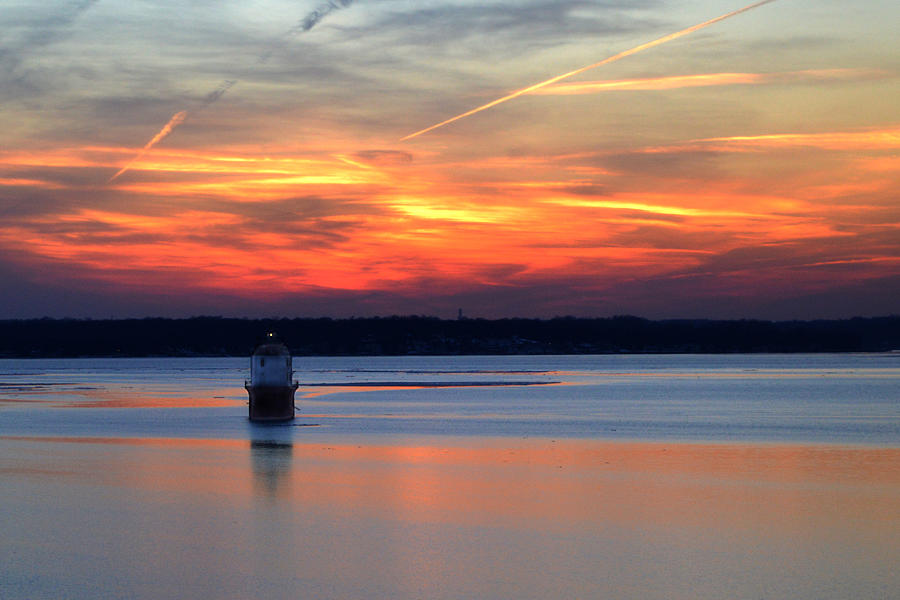 Chesapeake Bay Photograph - Baltimore Light At Gibson Island by Bill Swartwout Photography