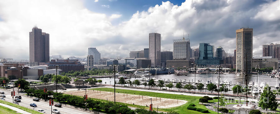 Baltimore Photograph - Baltimore Maryland by Olivier Le Queinec
