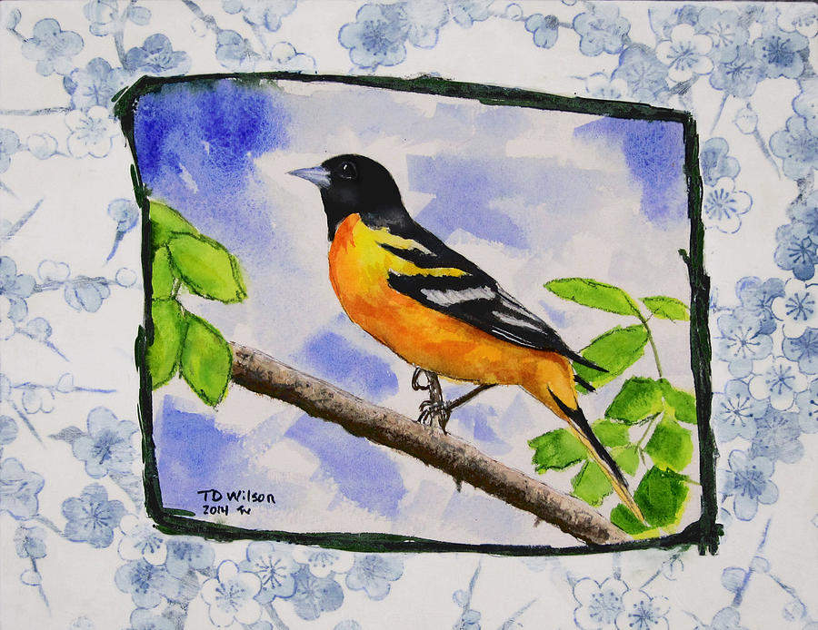 Baltimore Oriole - Jaggy Border by TD Wilson