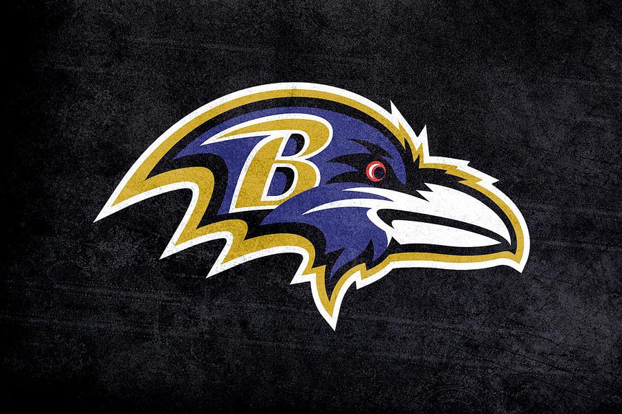 Baltimore Ravens Logo Digital Painting Painting By Eti Reid