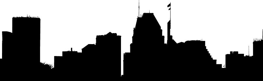 Baltimore Skyline Silhouette Photograph By William Bartholomew
