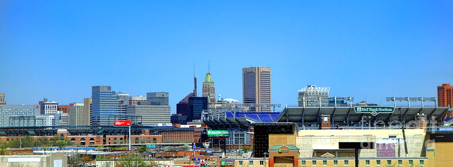 Baltimore Photograph - Baltimore Stadiums by Olivier Le Queinec
