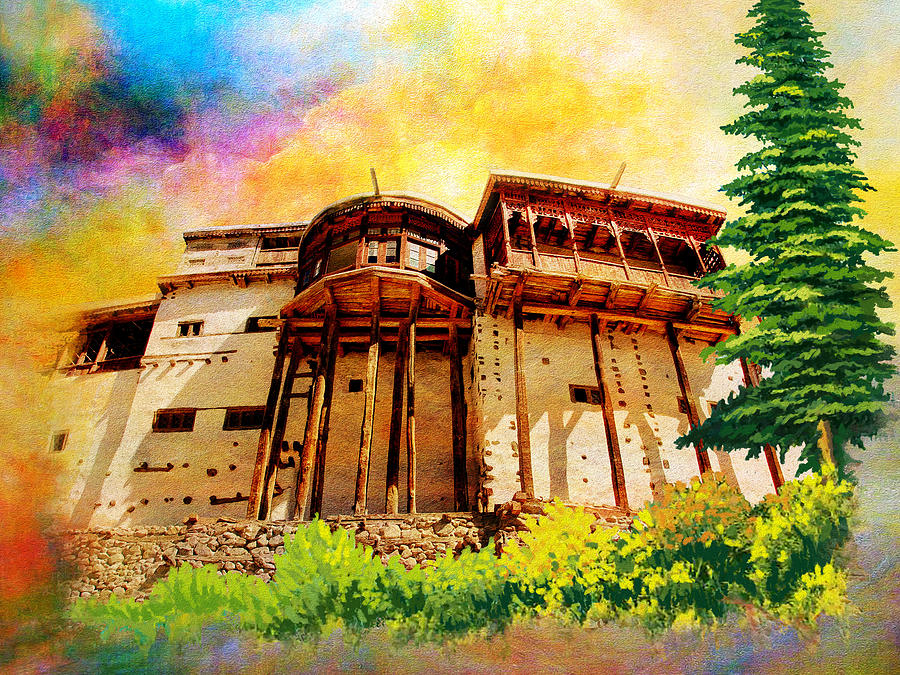 Pakistan Painting - Baltit Fort by Catf