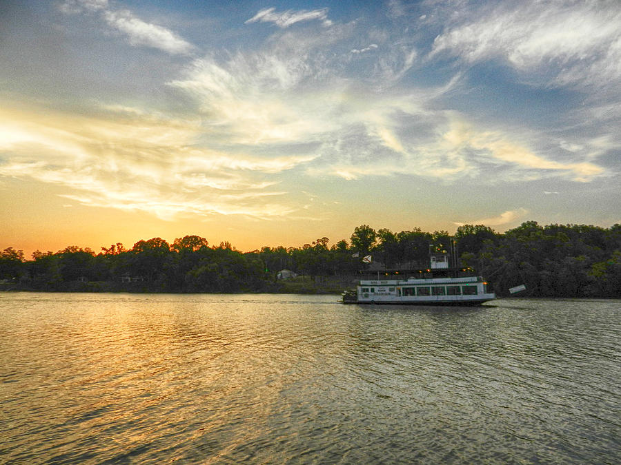 Riverboat Photograph - Bama Belle Sunset by Ben Shields