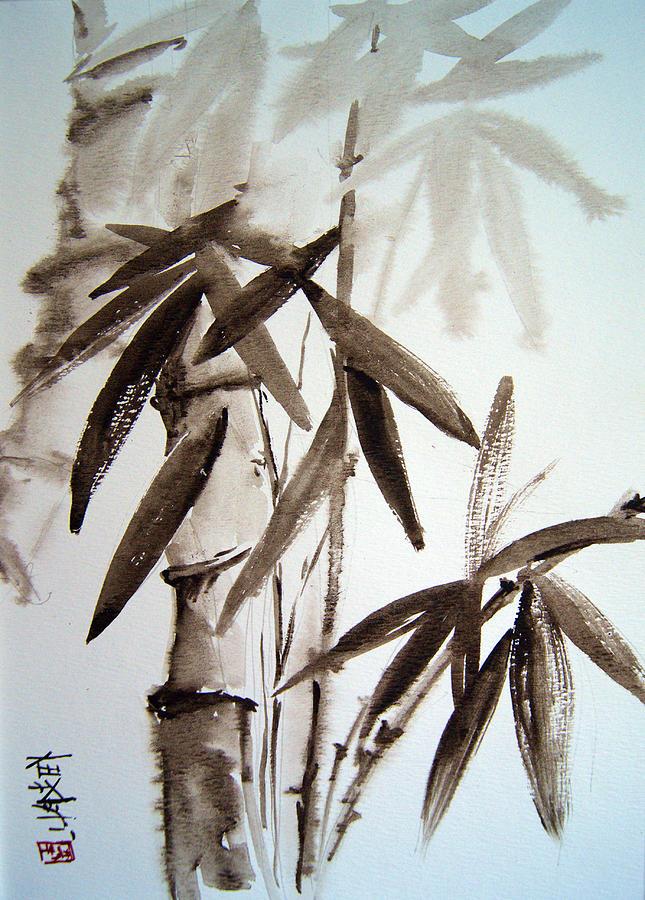 Bamboo Painting - Bamboo by Alena Samsonov
