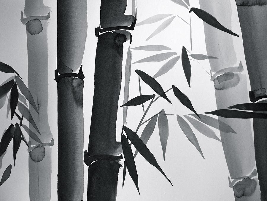 Bamboo And Light Painting