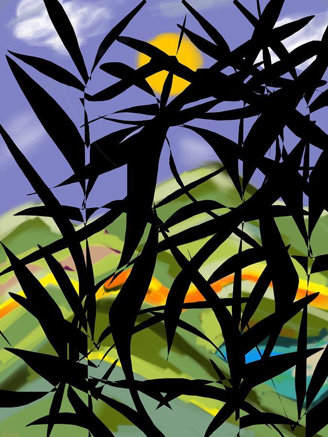 Bamboo Digital Art - Bamboo by Christine Fournier