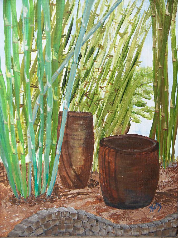 Bamboo Farm And Pottery Barn Cane Pots