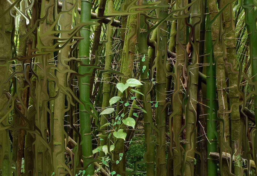 Bamboo Forest Digital Art