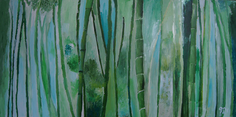Bamboo Painting - Bamboo Jungle by Jessie Nolan