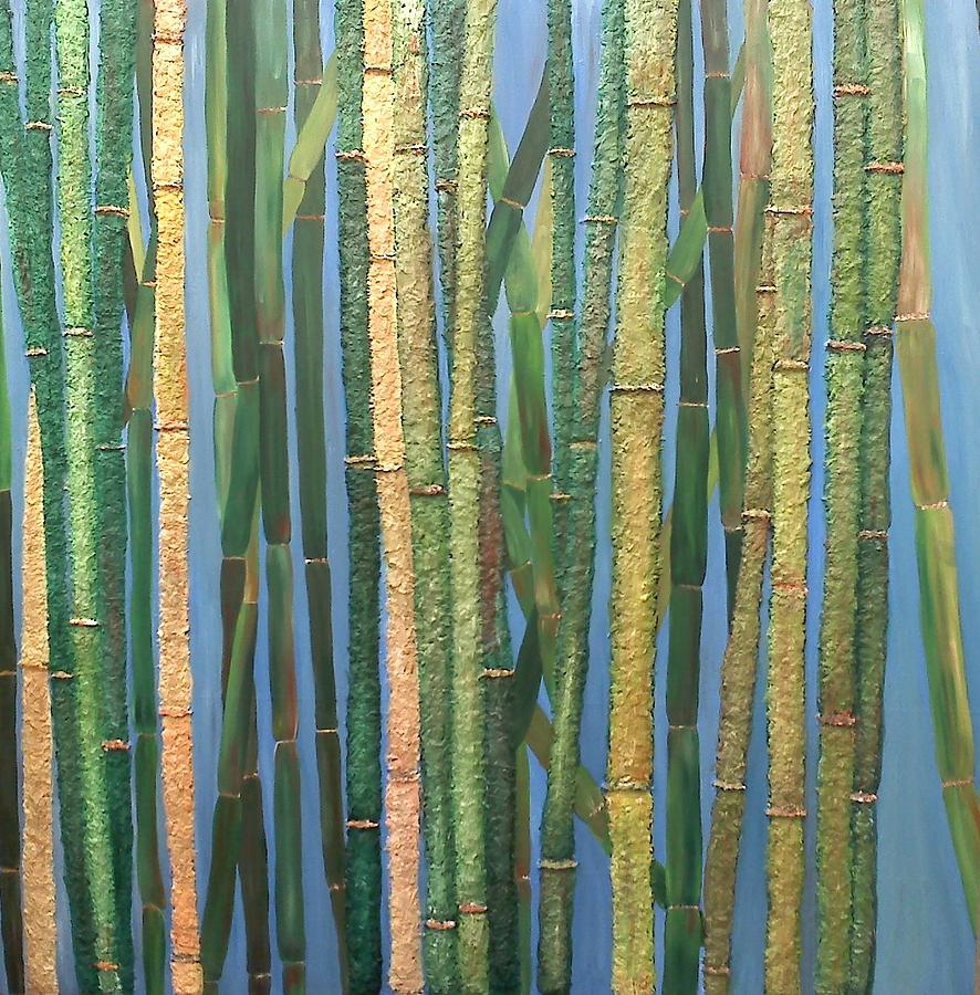 Bamboo Painting - Bamboo by Leslye Miller