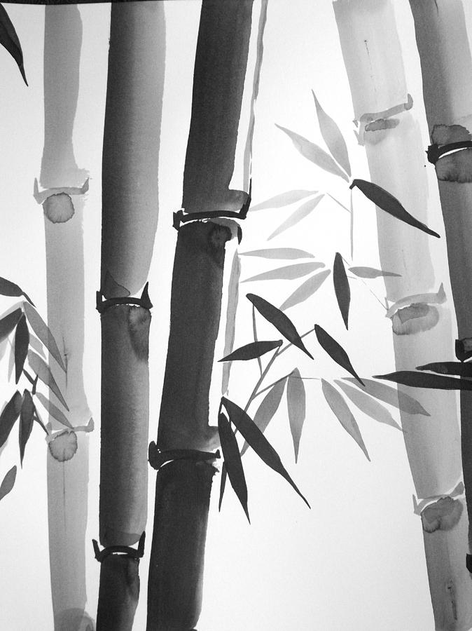 Forest Painting - Bamboo  by M E Wood