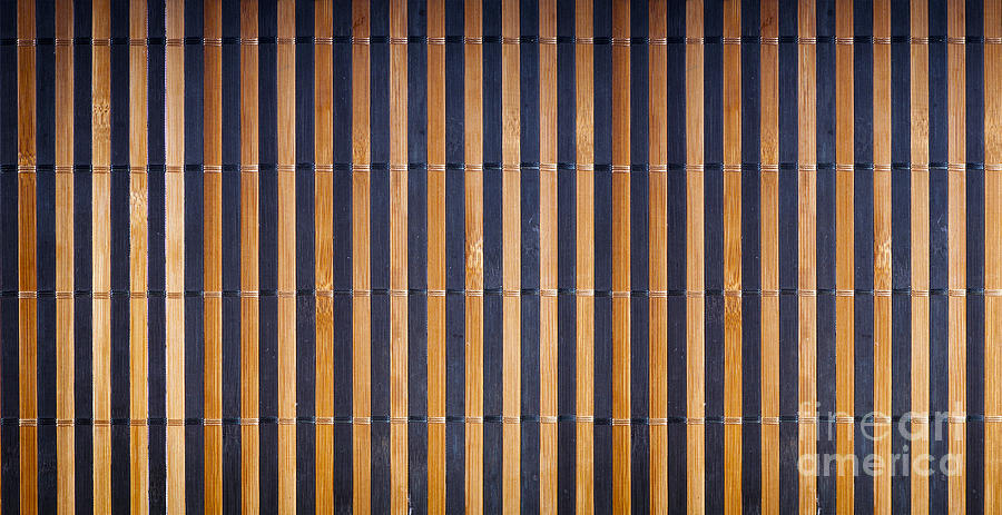 Abstract Photograph - Bamboo Mat Texture by Tim Hester