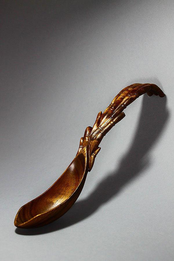 Sculpture Sculpture - Bamboo Spoon 1 by Abram Barrett
