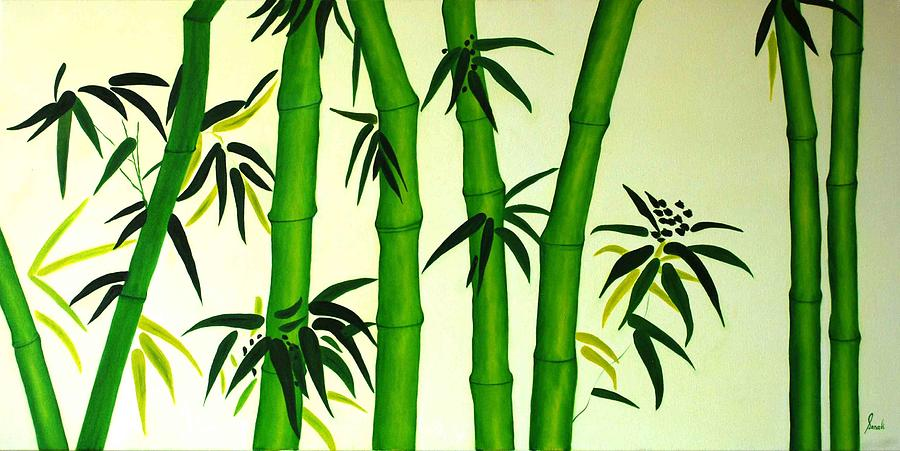 Oil Painting - Bamboos by Sonali Kukreja