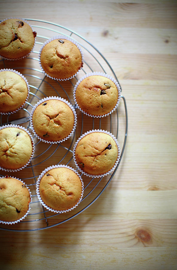 Banana Muffins With Chocolate Chips Photograph by Celiayu
