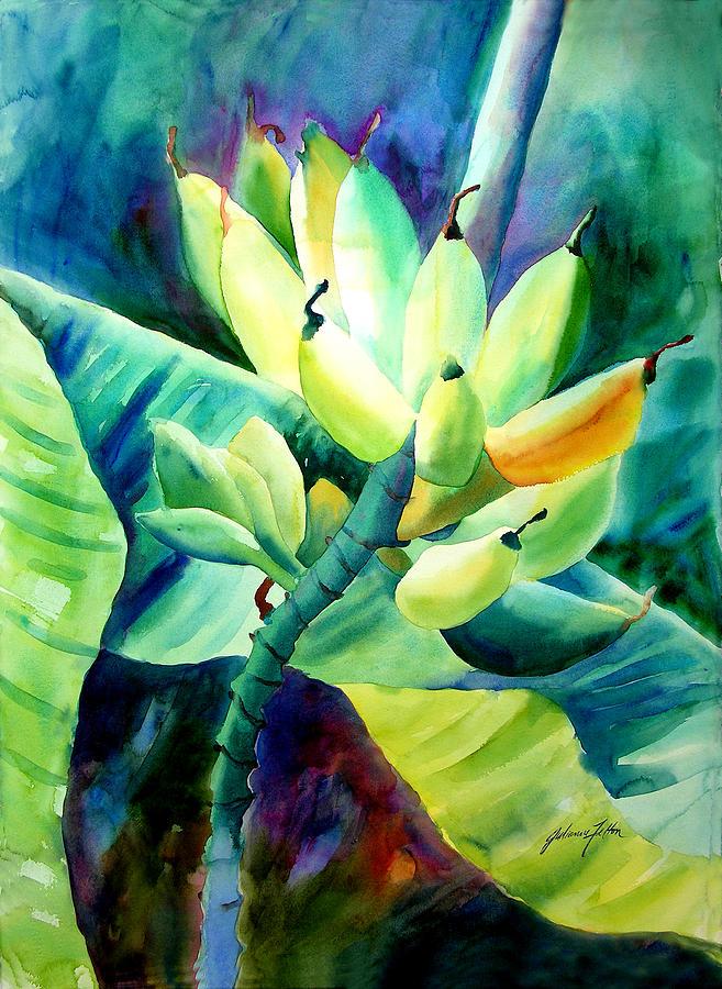 Watercolor Painting - Bananas 6-12-06 Julianne Felton by Julianne Felton