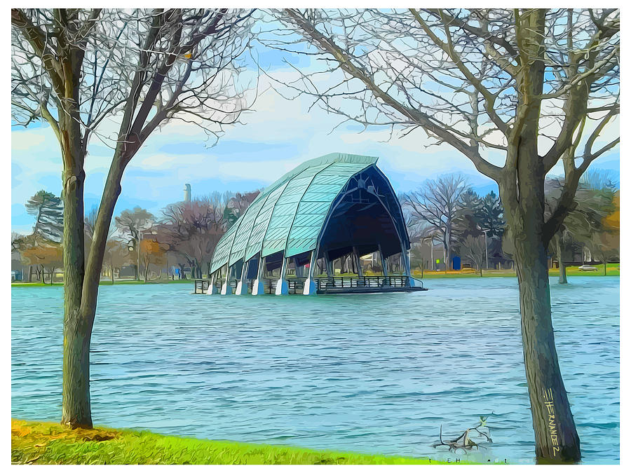 Bridgeport Photograph - Band Shell After Hurricane Sandy by Ed Hernandez