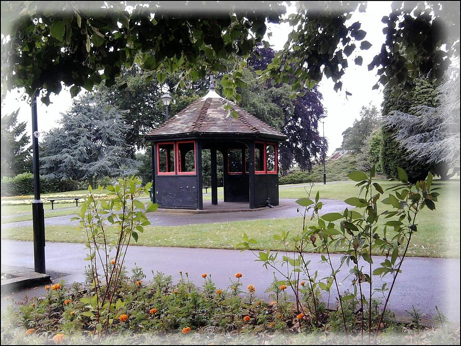 Landscape Photograph - Band Stand In The Park by Geoff Cooper