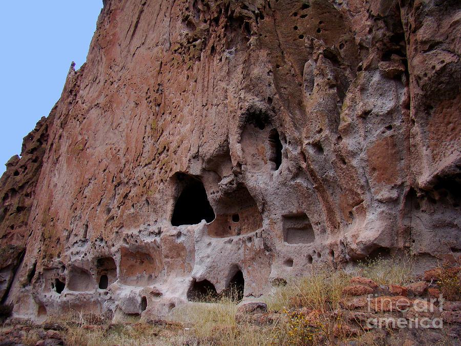 Landscape Photograph - Bandelier Cave Lineup by Eva Kato