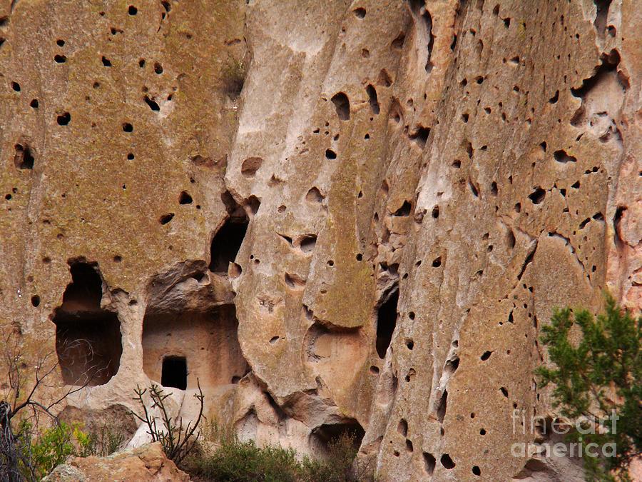 Landscape Photograph - Bandelier Caves by Eva Kato