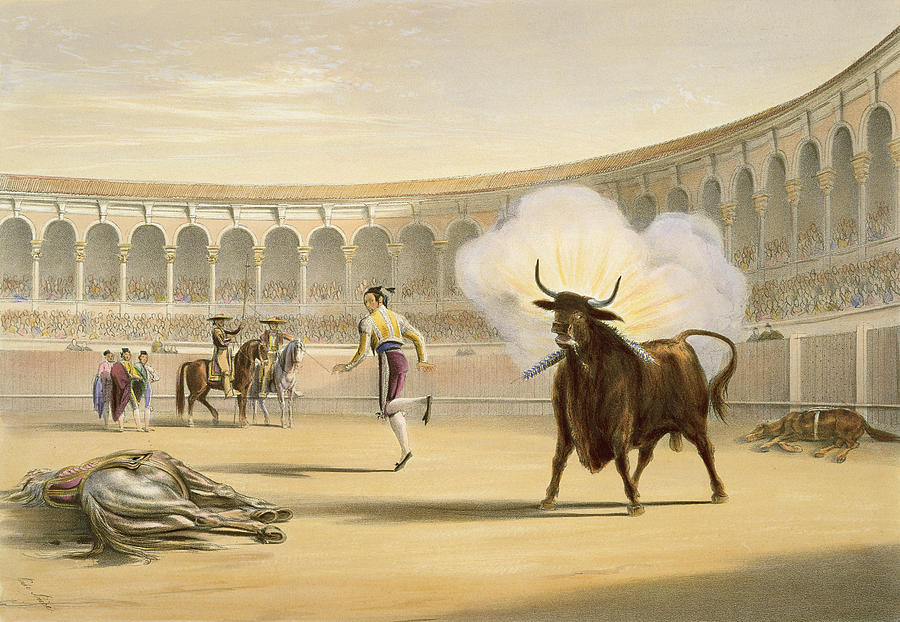 Firecrackers Drawing - Banderillas De Fuego, 1865 by William Henry Lake Price