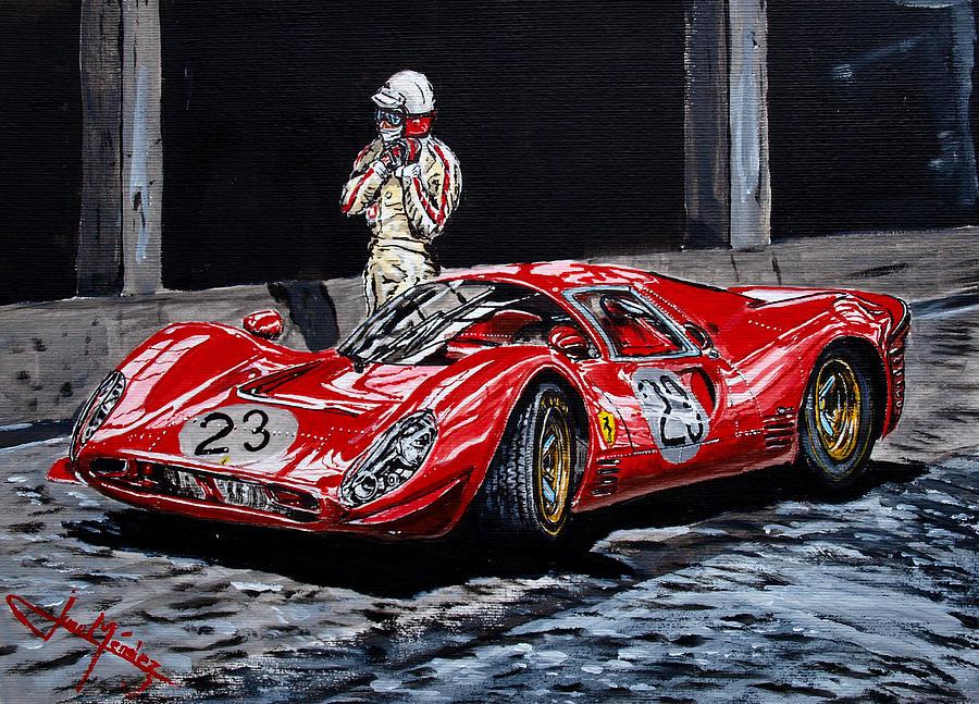 Lorenzo Bandini Painting - Bandini And The P4 by Juan Mendez