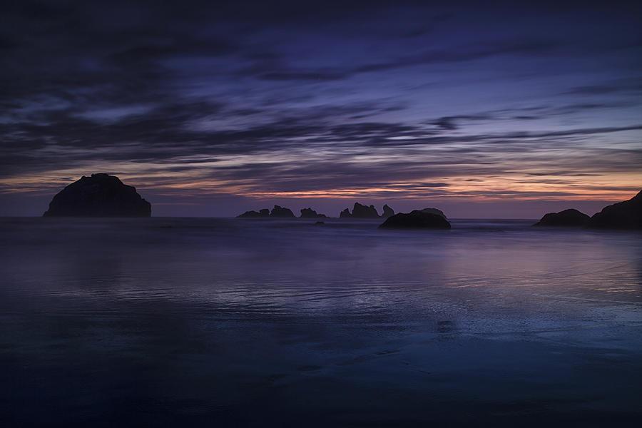 Beach Photograph - Bandon Beach At Twilight by Andrew Soundarajan
