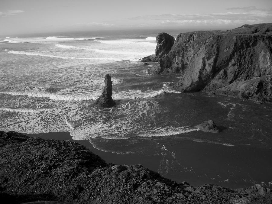 Bandon Beach Incoming Tide Photograph