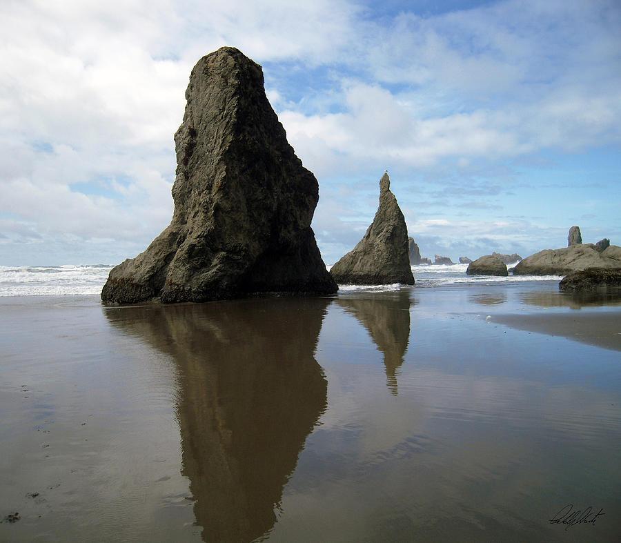 Bandon Beach Oregon Rock Monoliths Photograph