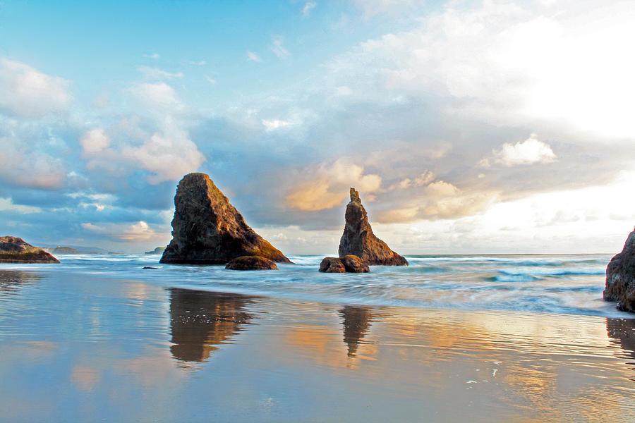 Oregon Photograph - Bandon Blues by Pamela Winders